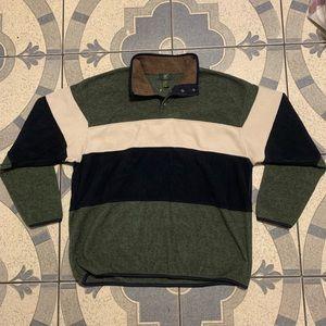 NWT VTG 1/4 Snap Color Block Fleece Sz L